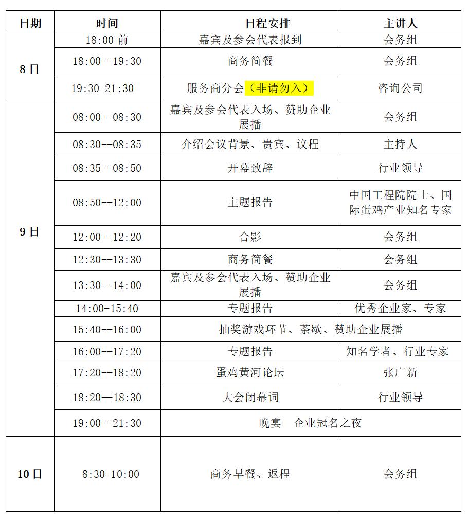 2019中国蛋鸡产业G9峰会大会邀请函