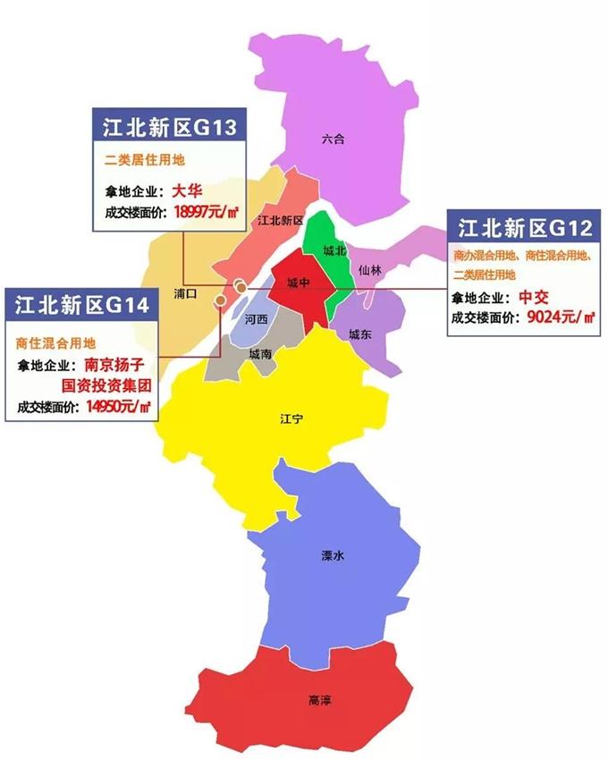 江北3幅涉宅地块集中出让 出让总面积超10万方