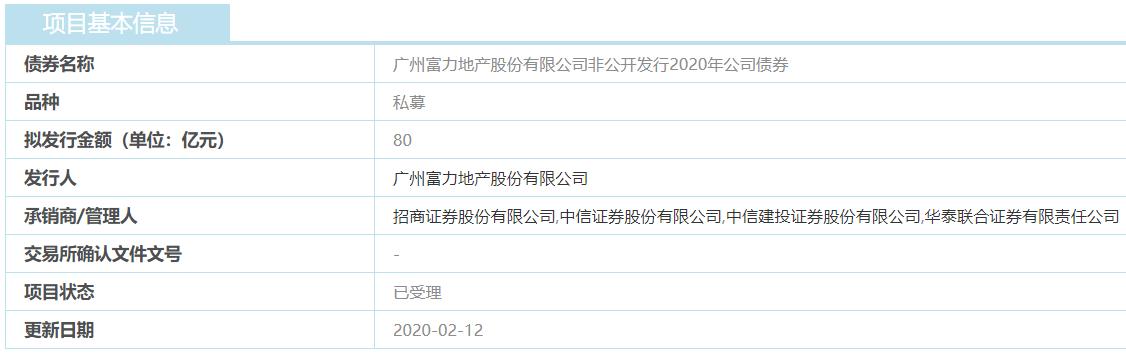 富力地产80亿元非公开发行公司债券获上交所受理-中国网地产