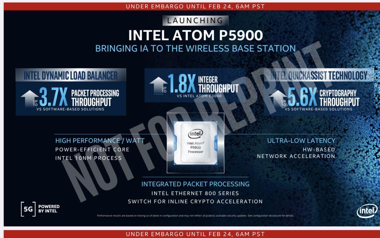 英特尔发布首款10纳米基站SoC芯片 抢通信设备芯片市场