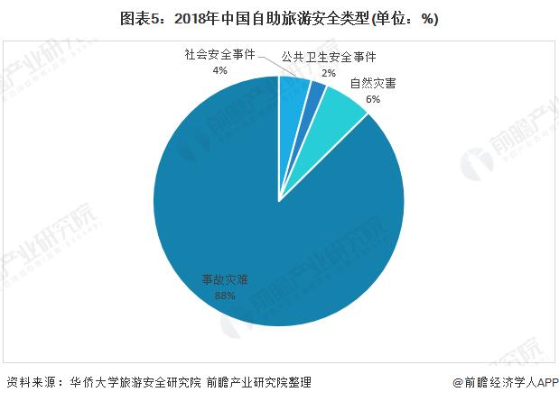 图表5:2018年中国自助旅游安全类型(单位:%)