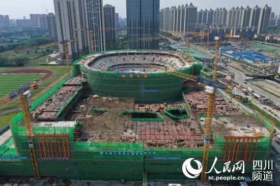金强国际赛事中心体育馆。温江区融媒体中心供图