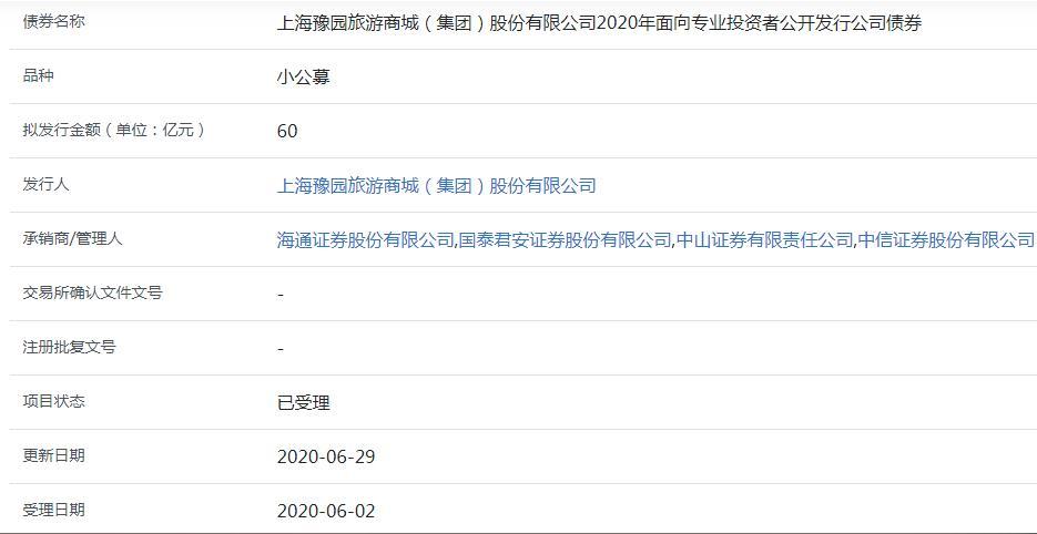 豫园股份60亿元小公募公司债券已获上交所受理-中国网地产