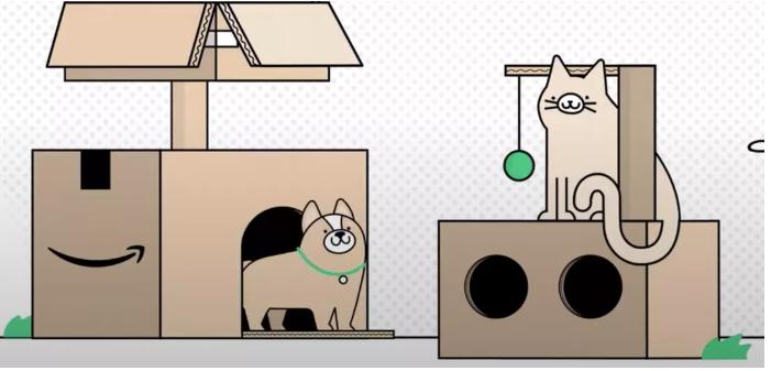 """《【华宇娱乐待遇】用完不要扔 亚马逊环保快递盒还可变成""""猫公寓""""》"""
