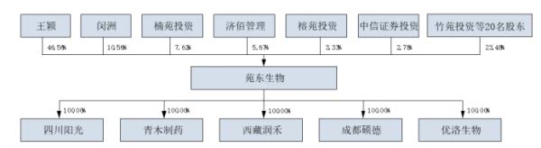 苑东生物股权结构图(来源:招股书)