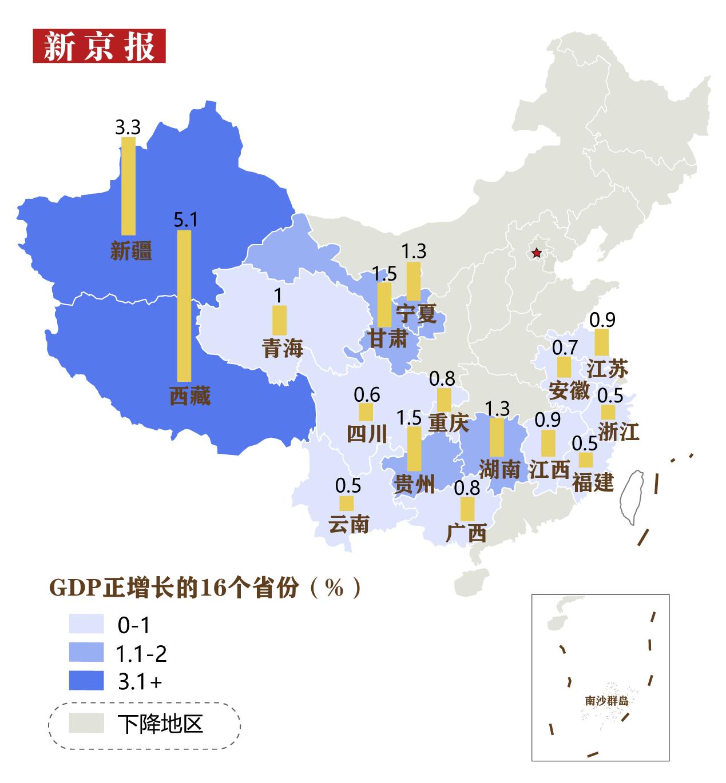 """上班年gdp_31省份上半年GDP出炉,16省份实现""""正增长"""""""