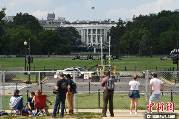 原料图:美国华盛顿白宫南草坪。