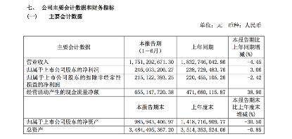 重庆啤酒中报:净利2.46亿,高档酒增长22%