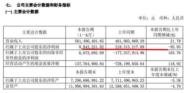 万通发展中期业绩归属股东净利润884万元同比减少95%