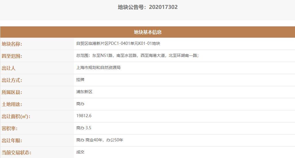 上海临港片区21.35亿元出让5宗地块