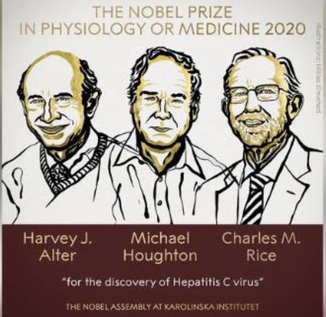 诺贝尔医学奖授予丙肝病毒捕手 有望推动疫苗研发