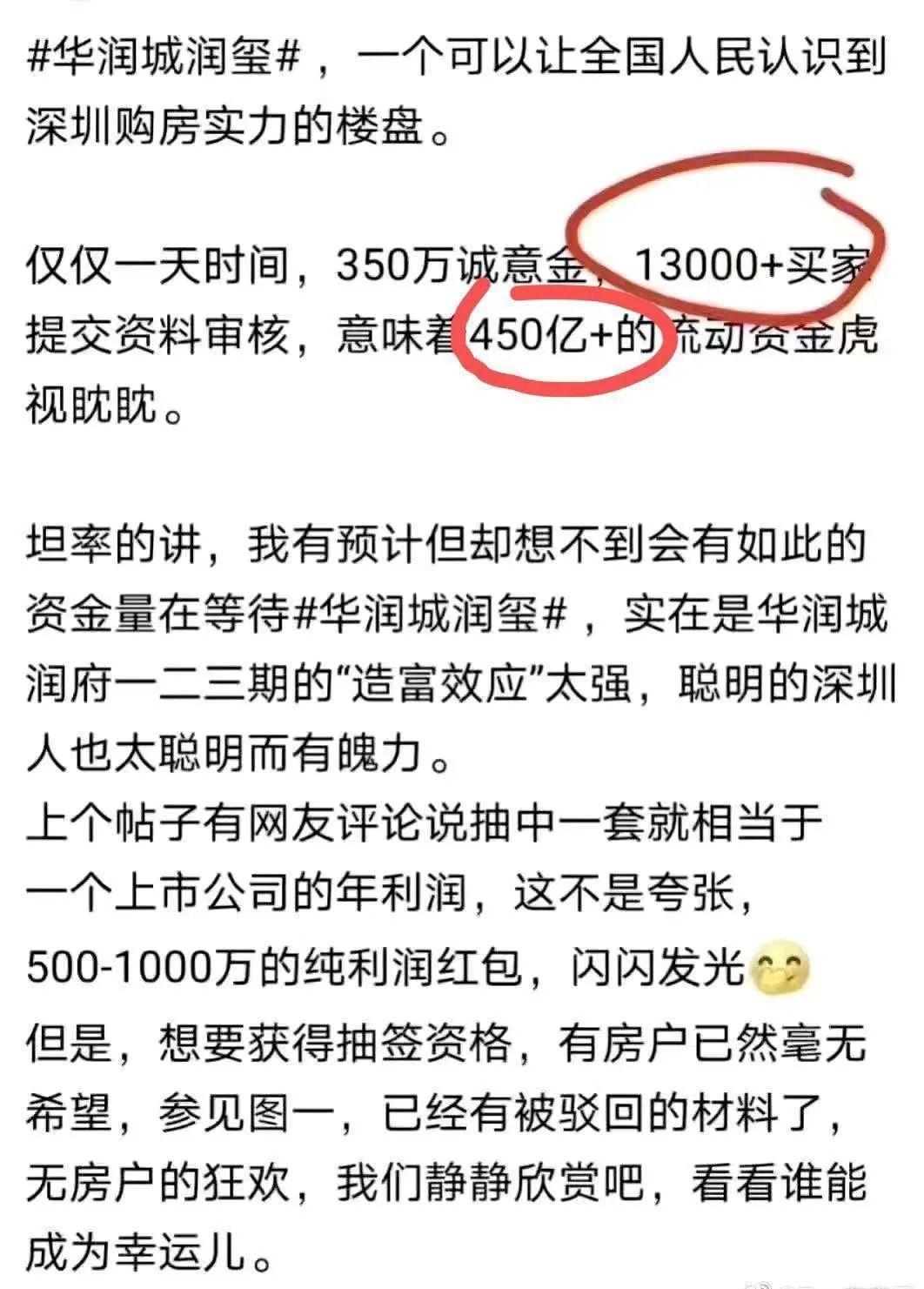 楼市凡尔赛!1.3万买家疯抢1100套豪宅 一天交了450亿 抢到就赚500万