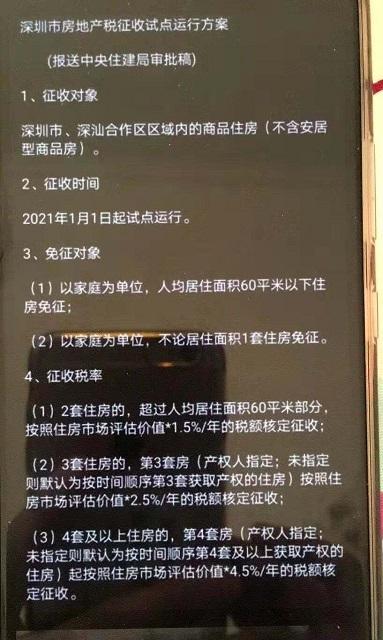"""中央媒体关注深圳楼市""""新热点""""。当地住房和建设局回应""""房地产税"""""""