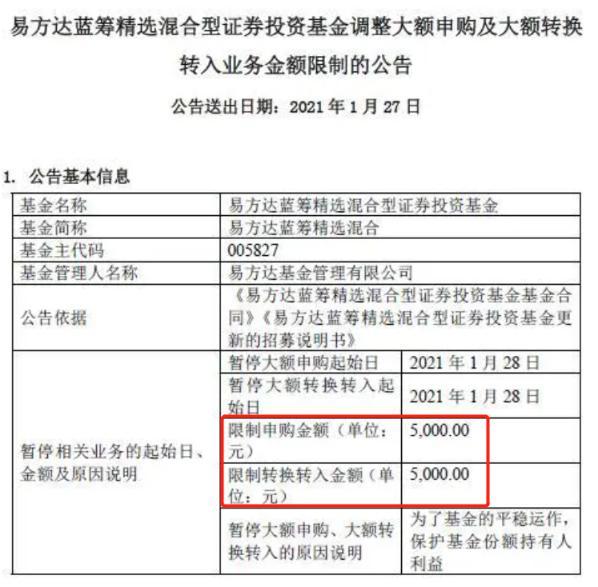 【21财经易方达】易方达狂砍申购额度10万跌至5000!北上资金增持预增股出炉