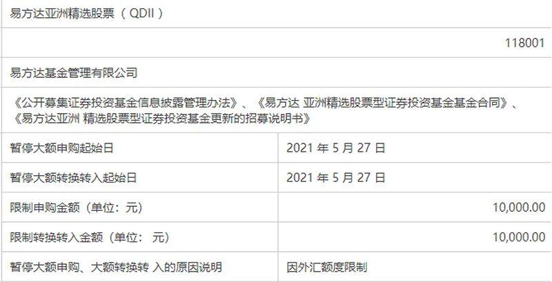购买限额从1万调整为100万。张坤的资金大大放宽了限购!这是什么情况?