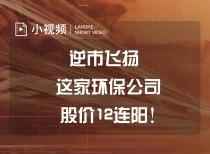 逆市飞扬 这家环保公司股价12连阳!