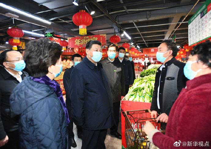 习近平视察贵阳的超市和社区