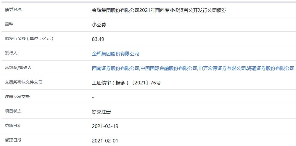 惠今集团发行的83.49亿元小型上市公司债券在上海证券交易所上市
