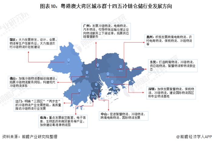 图表10:粤港澳大湾区城市群十四五冷链仓储行业发展方向