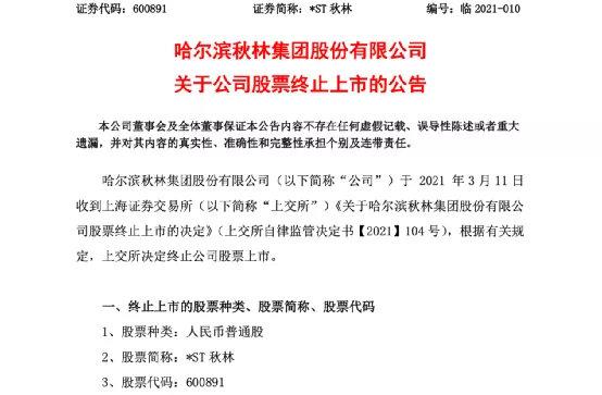 """上交所宣布退市决定:百年老店""""凉了""""!巨亏近6亿 股价暴跌93%"""