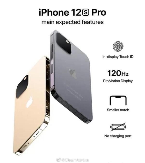 又在领导变革?IPhone 12s Pro渲染曝光:充电界面被打死