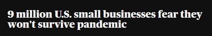 """美国小企业很难拿到""""救命钱""""!"""