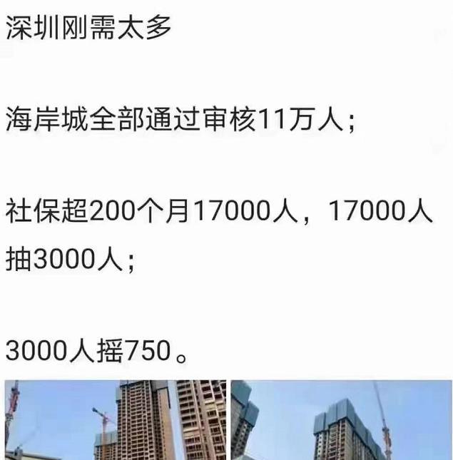 深圳11万人抢700套房?假的!