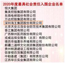 """王海携手恒大、万达入选""""2020年最具社会责任感企业"""""""
