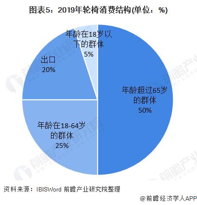 图表5:2019年轮椅消费布局(单元:%)