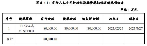 张江高科:成功发行8亿元超短期融资券,票面利率2.46%