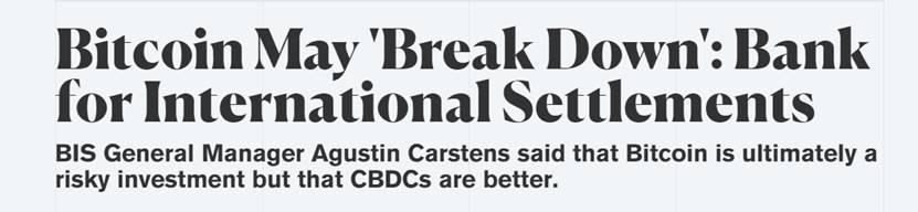 """《【万和城注册链接】比特币很可能会彻底崩溃?!""""央行的央行""""发出严厉警告》"""