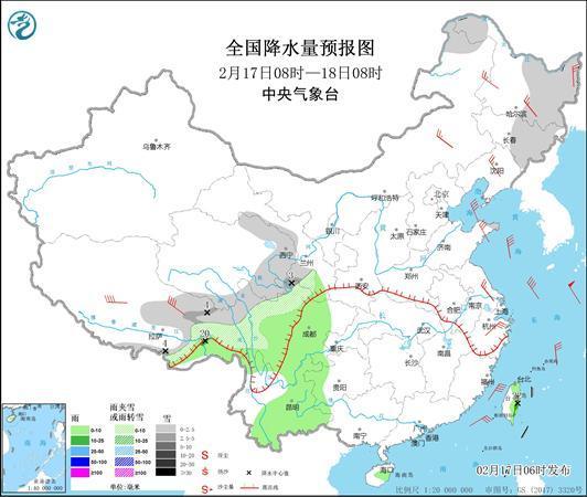 从现在开始,全国雨雪范围缩小,春节假期后会转暖
