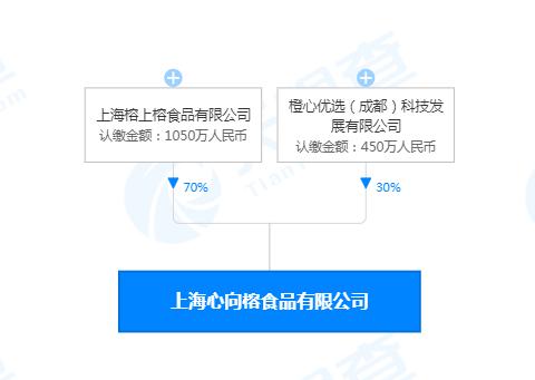 橙心优选等公司在上海投资成立食品新公司