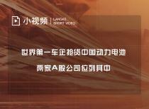 世界第一车企抢货中国动力电池 两家A股公司位列其中