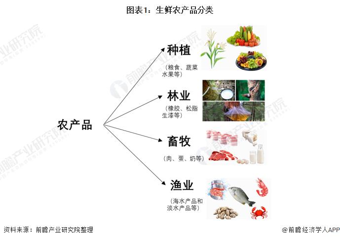 图表1:生鲜农产品分类
