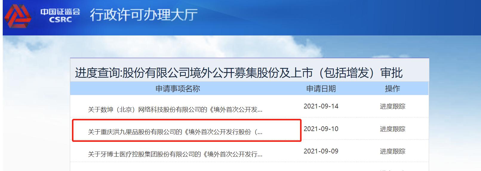 阿里等机构持股的洪九果品拟香港IPO