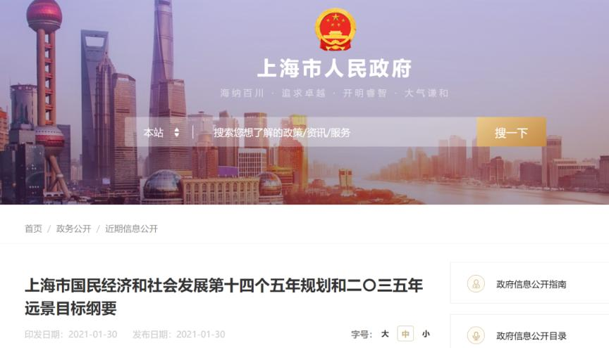 """重磅!上海""""十四五""""规划出炉:稳步推进主板股票公开发行注册制"""